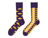 Fish and Scales Socks 35-38   men socks   colorful socks   mismatched   womens socks   worldwide delivery   Many Mornings