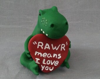I Love You Dinosaur / Mother's Day Gift / Rawr Means I Love You / Dino Figurine / Gift for Him / Gift for Her / Just Because Gift /