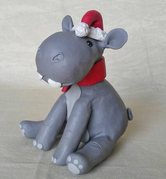 image 0 - Hippo Christmas Ornament / Hippopotamus For Christmas / Etsy