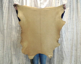 BRAINTAN Buckskin Leather Hide for Native American Crafts Pipe Bag Flute Bags Regalia Cosplay Costumes Leather Laces Moccasins SCA LARP Garb