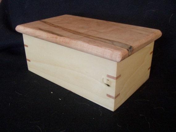 Maple lift lid box etsy