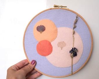Summer Dreams - Abstract art in Birch hoop