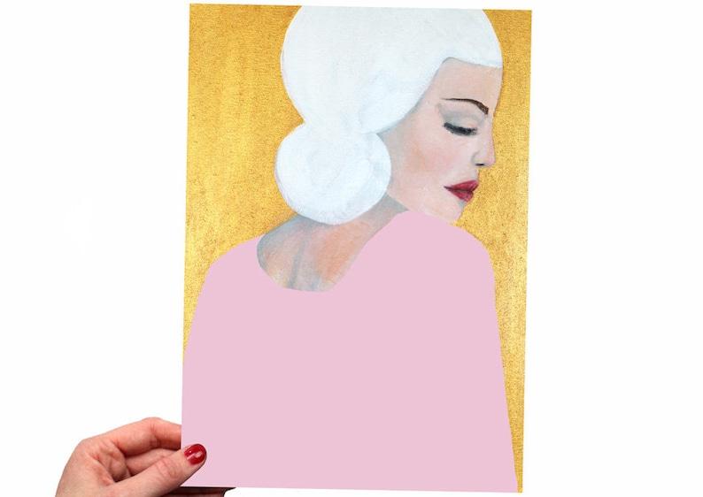PRINT of Original Painting Portrait Woman  Face Wall Art image 0