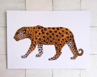 Leopard - Print of Original Gouache Painting - Wall art Artwork Panther Cheetah