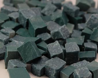 Hand-Cut Mosaic Smalti - Blue green - 1/2 pound - 100 pieces - 10 mm x 10 mm