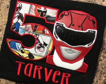 Personalized Birthday Power Ranger shirt ONLY