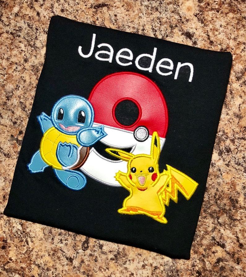 8d0f81df Pokemon Inspired Personalized Birthday shirt ONLY Pikachu & | Etsy