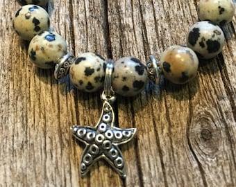 Child's Dalmation Jasper Healing Bracelet  Joy  Playfulness             Lifts the Spirits!  8mm beads