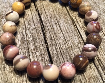 Australian Zebra Stone Healing Gemstone Bracelet      Protection Motivation Overcoming Anxiety and Apathy Grounding