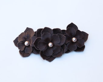 Flower Barrette Clip