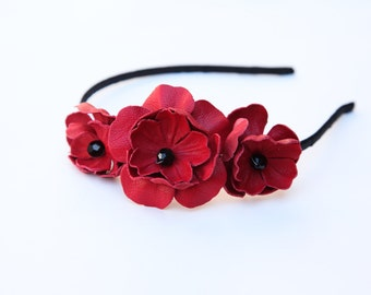 Poppy Cluster Headband