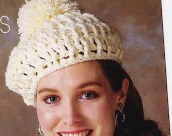 Crochet Beret Hat Pattern- Crochet Slouchy Hat Pattern - PDF Download