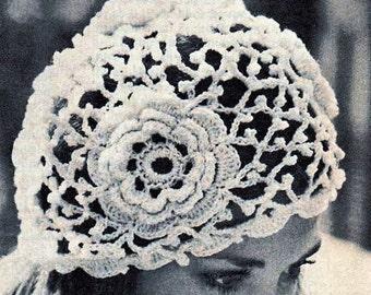 Crochet Vintage Lace Cloche Style Hat, Crochet Irish Rose Lace Cloche Pattern ,Irish Lace Pattern-Clouche Hat-  PDF Download