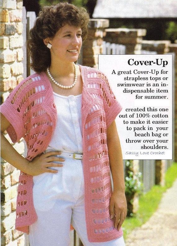 Crochet Pattern Crochet Womens Vest Jacket Shrug Pattern Etsy
