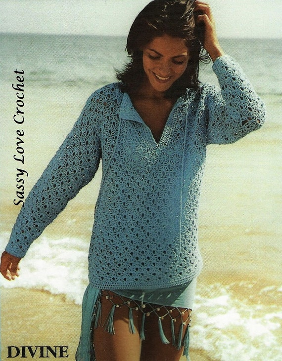Crochet Tunic Pattern Ladies Womens Summer Tunic Crochet Top Etsy