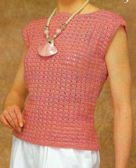 Crochet Shell Top Pattern Womens Tops Crochet Pattern Etsy