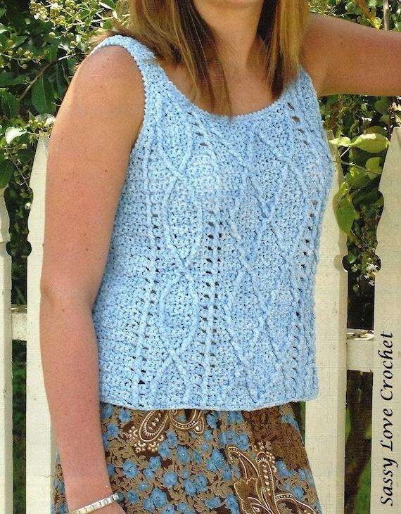 Crochet Summer Top Pattern Crochet Vest Pattern Womens Etsy