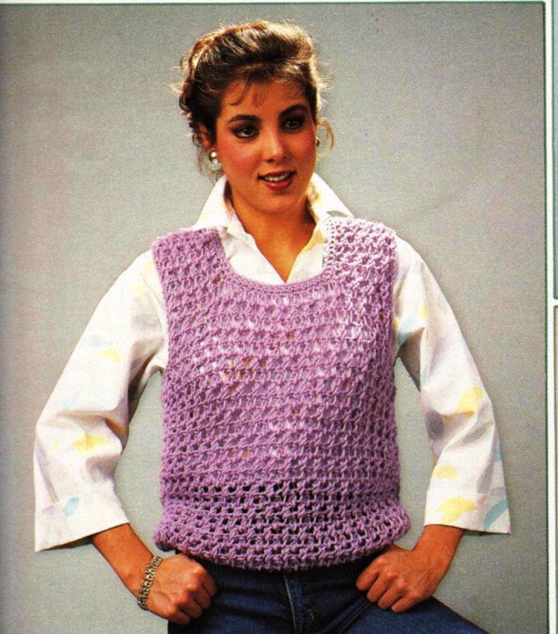 667a7a7ff Crochet E-Book Leisure Arts Quick Crochet Vest Leaflet 417 3