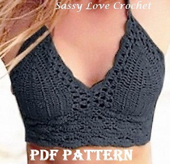 Crochet Black Bathing Suit Pattern Black Boho Bikini Crochet Etsy