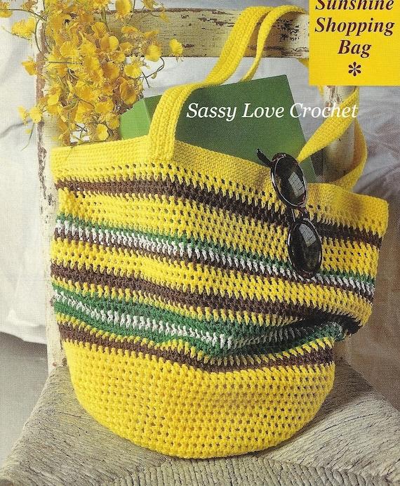 Crochet Beach Purse Tote Shopping Bag Pattern Market Bag Etsy