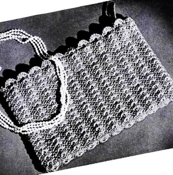 Crochet Bridal Purse Sea Shells Pattern Crochet Clutch Circa Etsy