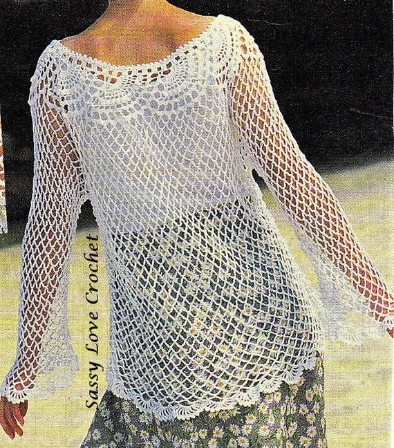 Crochet Lace Cover Up Pattern Ladies Womens Brides Weddings Etsy