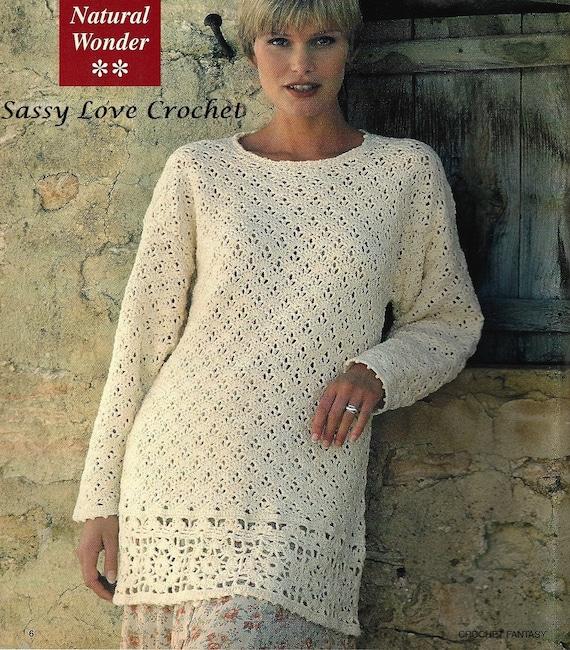 13632296b1932 Crochet Sweater Pattern Crochet Tunic Pattern Sweater Tunic