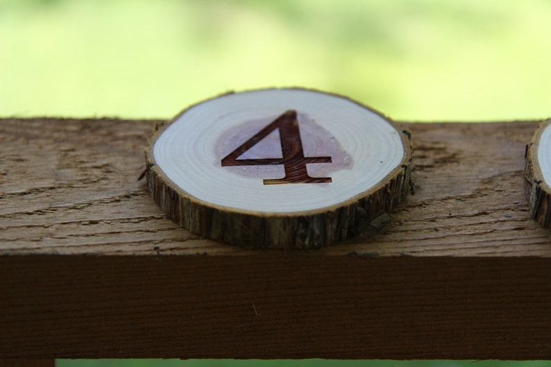 Custom Wood Branch Table Numbers Individual Piece Good for image 0