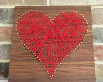 Love w/ Red Yarn // Walnut