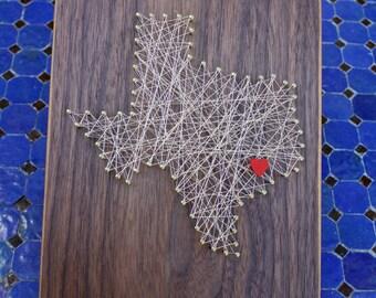 Houston, Texas Wall Art - Walnut