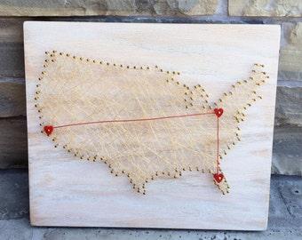 USA Wall Art // Red Oak-White Wash