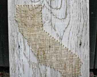 California Wall Art - Reclaimed, White Wash