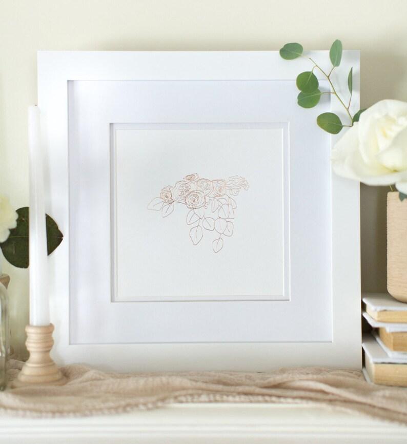 Botanical Rose Gold Foil Art Print image 0