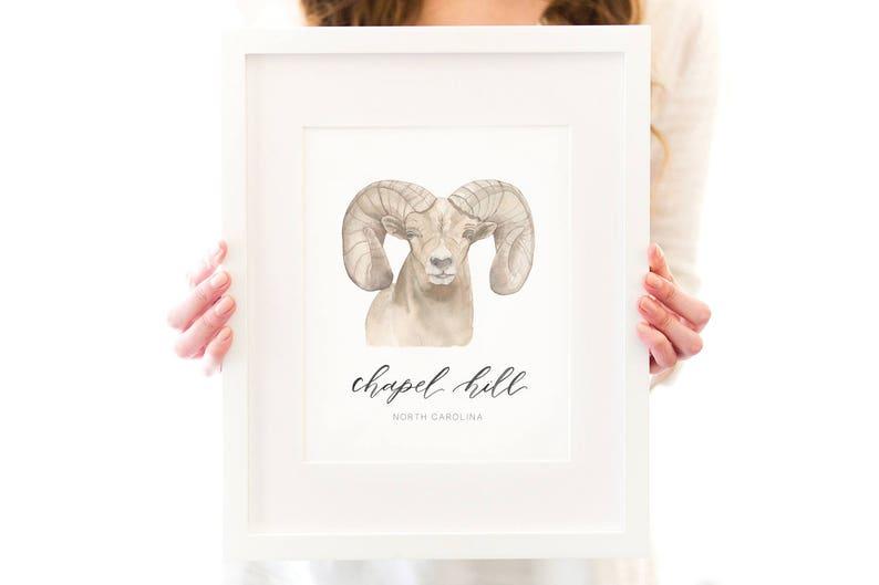 Chapel Hill Ramses Art Print image 0