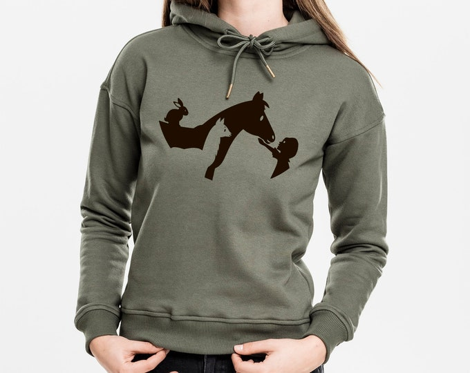Olive Hoodie - Refuge The Mouth Who Laughs - Woman