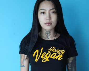 Hangry Vegan January yellow soft print