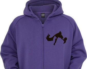 Purple Zip Hoodie - Kidz - 14years old