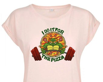I do it for the PIZZA - By Coyote - lady t-shirt