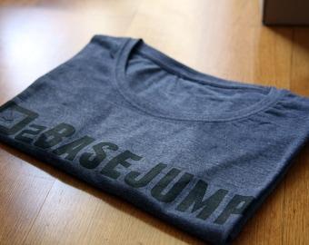 David Laffargue - BaseJump - Purple blue bi-blend t-shirt