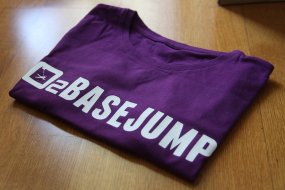 David Laffargue - BaseJump - Purple woman t-shirt