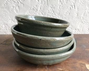 Gray Nesting Bowls // Five Handmade Bowls // Studio Pottery Bowls