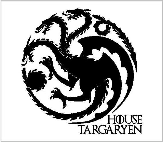 Game Of Thrones House Targaryen Vinyl Decal Vinyl Sticker Etsy