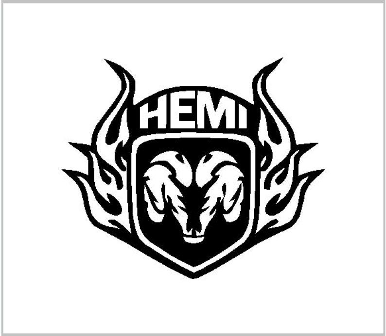 Hemi Dodge Vinyl Decal Vinyl Sticker Decal Sticker Cut Vinyl