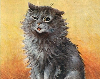 Louis Wain, Louis Show, Cat Show, Louis Cat, Cat Louis, Wain Louis, Cat Wain, Second Prize, At The Cat Show, Cat Art, Cat Decor, Cat Prints