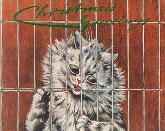 Cat POW, Christmas Cat, Pow Cat, Cat Card, Card Cat, Cat Christmas, Pow Card, Pow Christmas, Card Pow, Louis Wain, Cat War, War Cat, Cat Art