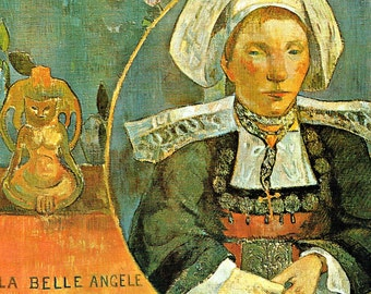 la Belle Angele, la Belle, Belle Angele, la Belle Angele Gauguin, la Angele, Gauguin la Belle Angele, Gauguin la, Paul Gauguin Prints
