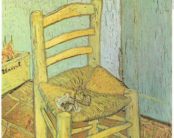 "Vincent Van Gogh's Chair Fine Art Print on Archival Museum Quality Paper or Canvas, 4"" x 6"" - 16"" x 20"""