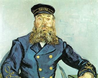 van Gogh Art Print, The Postman Roulin, Vincent van Gogh, Joseph Roulin Print, van Gogh Print, Dutch Artist, Post Impression Art, Portrait
