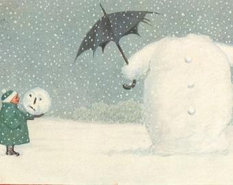 Headless Snowman, Christmas Snowman, Snowman Card, Card Christmas, Christmas Card Snowman, Snowman Christmas, Card Snowman, Raphael Tuck Art