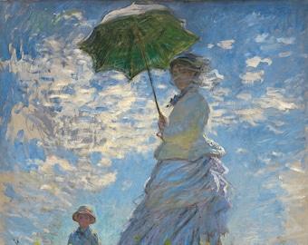 La Promenade Monet, La Promenade, Monet La Promenade, Promenade La, La Monet, Promenade Monet, Monet Promenade, Monet La, Monet Print, Art